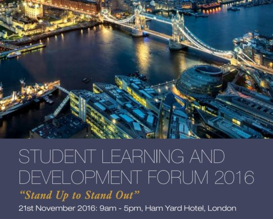 Stand Up to Stand Out - Institute of Hospitality London - Student Learning and Development Forum 2016